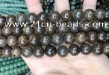CBZ622 15.5 inches 12mm round bronzite beads wholesale