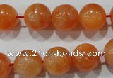 CCA304 15.5 inches 12mm round orange calcite gemstone beads wholesale