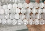 CCA384 15.5 inches 18mm round white calcite gemstone beads