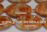 CCA484 15.5 inches 18*25mm oval orange calcite gemstone beads