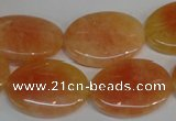 CCA66 15.5 inches 18*25mm oval orange calcite gemstone beads