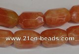 CCA76 15.5 inches 13*18mm faceted nuggets orange calcite gemstone beads
