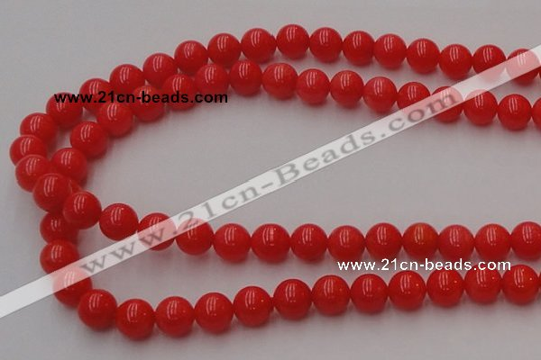 CCB126 15.5 inches 8mm round red coral beads strand wholesale