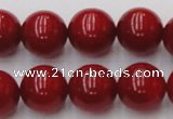 CCB128 15.5 inches 10mm round red coral beads strand wholesale