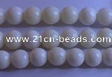 CCB300 15.5 inches 4mm round white coral beads wholesale