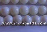 CCB301 15.5 inches 6mm round white coral beads wholesale