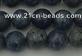 CCB453 15.5 inches 10mm round blue coral beads wholesale