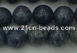 CCB454 15.5 inches 12mm round blue coral beads wholesale