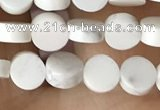 CCB510 15.5 inches 4mm coin white howlite beads wholesale