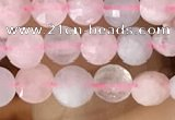 CCB544 15.5 inches 4mm faceted coin morganite gemstone beads