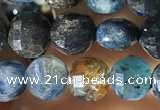 CCB613 15.5 inches 6mm faceted coin natural kyanite gemstone beads