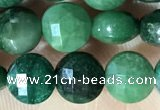 CCB629 15.5 inches 6mm faceted coin African jade gemstone beads