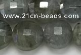 CCB684 15.5 inches 10mm faceted coin labradorite gemstone beads
