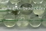CCB702 15.5 inches 6mm faceted coin prehnite gemstone beads