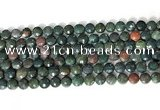 CCB750 15.5 inches 8mm faceted coin Indian bloodstone gemstone beads
