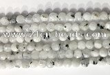 CCB756 15.5 inches 8mm faceted coin white moonstone beads