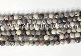 CCB761 15.5 inches 8mm faceted coin purple striped jasper beads