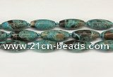 CCB784 15.5 inches 15*38mm – 16*40mm rice ocean agate beads