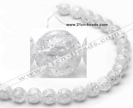 CCC16 grade A 12mm round white crystal beads Wholesale