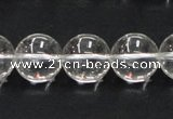 CCC205 15.5 inches 14mm round grade AB natural white crystal beads