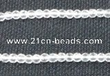 CCC250 15.5 inches 4mm faceted round grade A natural white crystal beads
