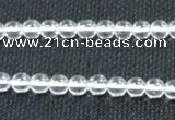 CCC277 15.5 inches 4mm round A grade natural white crystal beads
