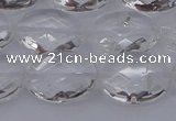 CCC516 15.5 inches 15*20mm faceted oval natural white crystal beads