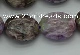 CCG105 15.5 inches 18*20mm oval charoite gemstone beads