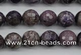 CCG53 15.5 inches 10mm faceted round natural charoite beads