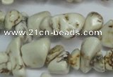 CCH232 34 inches 5*8mm white howlite turquoise chips beads wholesale