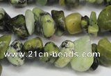 CCH233 34 inches 5*8mm yellow howlite turquoise chips beads wholesale
