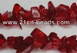 CCH238 34 inches 5*8mm synthetic crystal chips beads wholesale