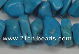 CCH282 34 inches 8*12mm dyed turquoise chips beads wholesale