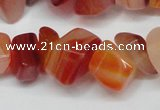 CCH303 34 inches 8*12mm red agate chips gemstone beads wholesale