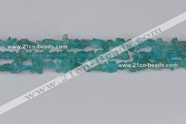 CCH703 15.5 inches 4*6mm - 6*8mm blue apatite chips beads