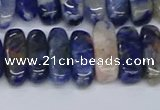CCH714 15.5 inches 5*10mm - 5*15mm sodalite chips beads