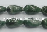 CCJ10 15.5 inches 10*20mm teardrop natural African jade beads wholesale