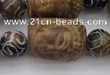 CCJ236 15.5 inches 22*28mm carved buddha China jade beads