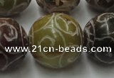 CCJ309 15.5 inches 24mm round China jade beads wholesale