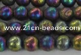 CCJ352 15.5 inches 8mm carved round plated China jade beads