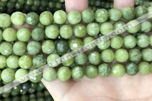 CCJ372 15.5 inches 10mm faceted round China jade beads wholesale