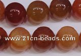 CCL07 15 inches 16mm round carnelian gemstone beads wholesale