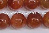 CCL08 15 inches 18mm round carnelian gemstone beads wholesale
