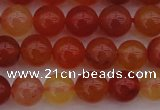 CCL62 15.5 inches 8mm round carnelian gemstone beads wholesale