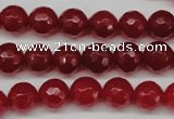 CCN1244 15.5 inches 10mm faceted round candy jade beads wholesale