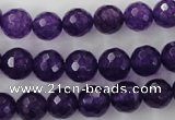 CCN1254 15.5 inches 10mm faceted round candy jade beads wholesale
