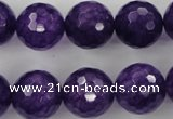 CCN1257 15.5 inches 16mm faceted round candy jade beads wholesale