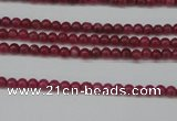 CCN1335 15.5 inches 3mm round candy jade beads wholesale