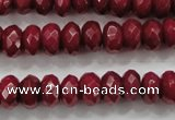 CCN1354 15.5 inches 6*10mm faceted rondelle candy jade beads