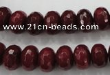 CCN1355 15.5 inches 8*12mm faceted rondelle candy jade beads